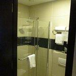 Shower from doorway
