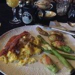 A fine dining breakfast