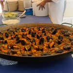 Paella at the beach BBQ