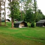 The glamping area