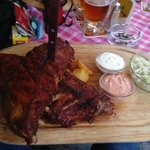 The insanely huge spare ribs