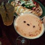 Espressotini martini & spinach artichoke crepe, DELISH!!