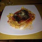 Lasagna vegetariana con melanzane