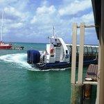 Atlantis Sub Transfer Boat arriving for yje 11 am trip