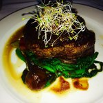 My filet... the picture doesn't do it justice. The glaze on top was amazing too!