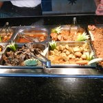 Buffet at beach snack bar at lunch