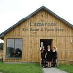 Morag & her family at Camerons Tearoom