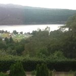 view of the Loch over the Caravan Park!