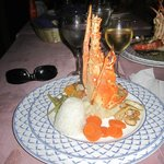Lobster and shrimp at Seafood A La Carte Restaurant