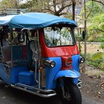 One of Sugar Beach's Tuk Tuk's - fun little cars for transporting guests around the property