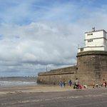 lighthouse and fort nice sky