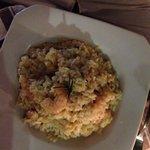 Risoto de camarão delicioso e muito bem servido!
