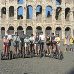 In front of the Roman Colosseum