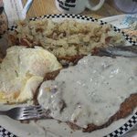Bigfoot Chicken Fried Steak and Eggs