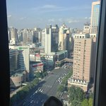 The view from the 27th floor, overlooking Shanghai Train Station and Zhabei District