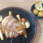 Pork Loin with grilled vegetable.