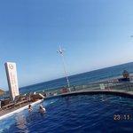 linda vista da piscina