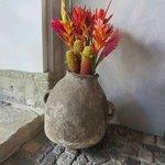 Tropical floral arrangement in patio 2