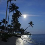 Supermoon over Saletoga Sands, Samoa