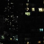 Panorama of night from a penthouse room