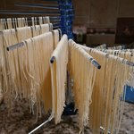 Hand made spaghetti drying in my kitchen