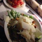 Salad and bruscetta