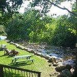 Creek and 'chillin' area