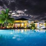 night view main swiming pool