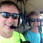Family's first helicopter ride!