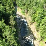 View looking down from bridge of Quechee Gorge