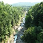 View from bridge of Quechee Gorge