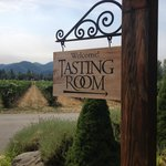 Troon Winery entrance - the best of the day!