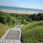 steps to Omaha Beach from the American Cemetery