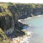 Cliffs of Pointe du Hoc scaled by American Rangers