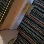 Wood trim mess