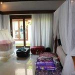 Villa Sayana- Bedroom 1 all set up with cott