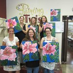 Our group with our paintings