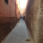 Quiet alleyway to Al-Moussika