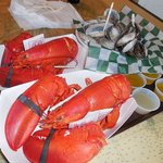 Lobsters and Steamers! Yum!