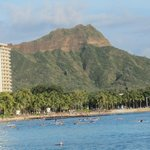 Diamond Head view from beach