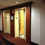 Elevator from doorway of room #311