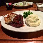 Sirloin, grilled shrimp & garlic mash... EXCELLENCE at its best!