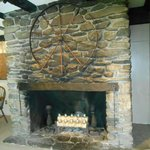 One of the many fireplaces at the Inn