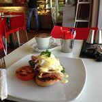 Eggs Benedict cooked to perfection