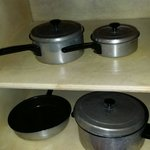 Pots and pans provided