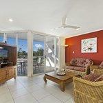 3 Bedroom Townhouse Living Room & Deck