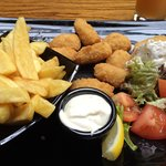 Scampi and Chips at Jack Meades