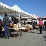 Stalls outside the market