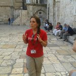 Yael Salame on Aug 15 giving her superb tour of Jerusalem
