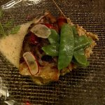 meagre (fish) with vegetables
